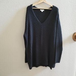 AVA & VIV Black Cable Knit Sweater